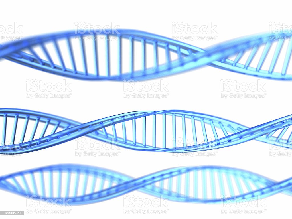 DNA 3D royalty-free stock photo