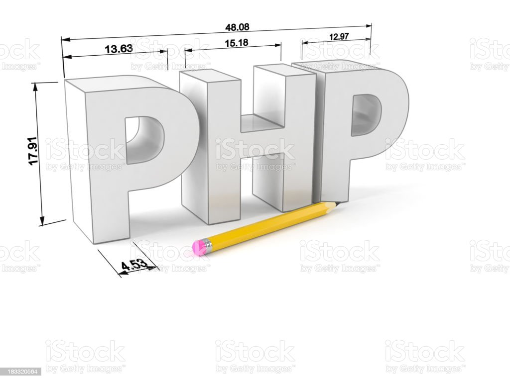 PHP royalty-free stock photo