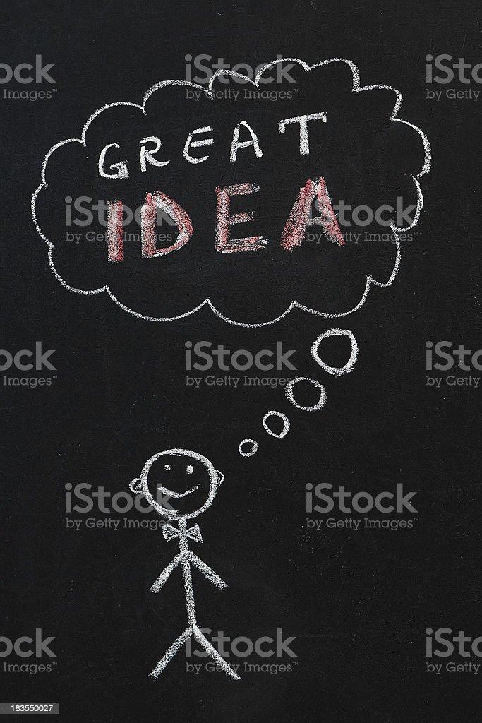 GREAT IDEA royalty-free stock photo