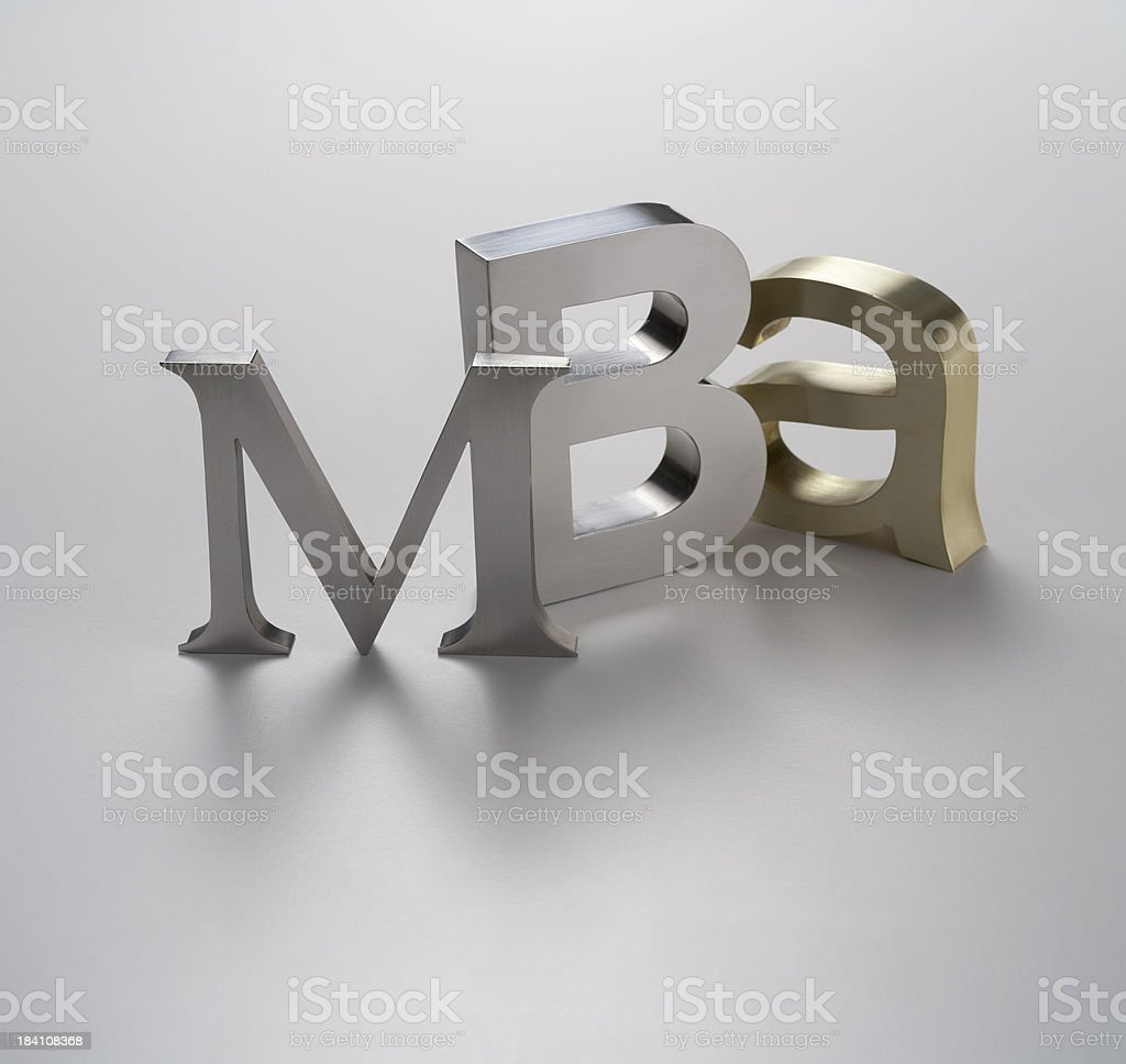 MBA royalty-free stock photo