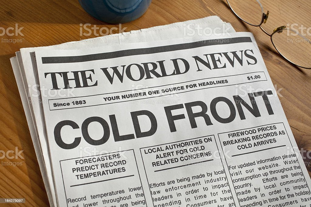 COLD FRONT royalty-free stock photo