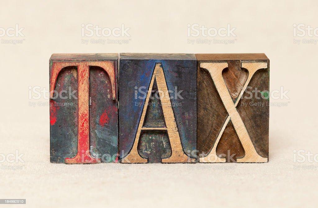 TAX royalty-free stock photo