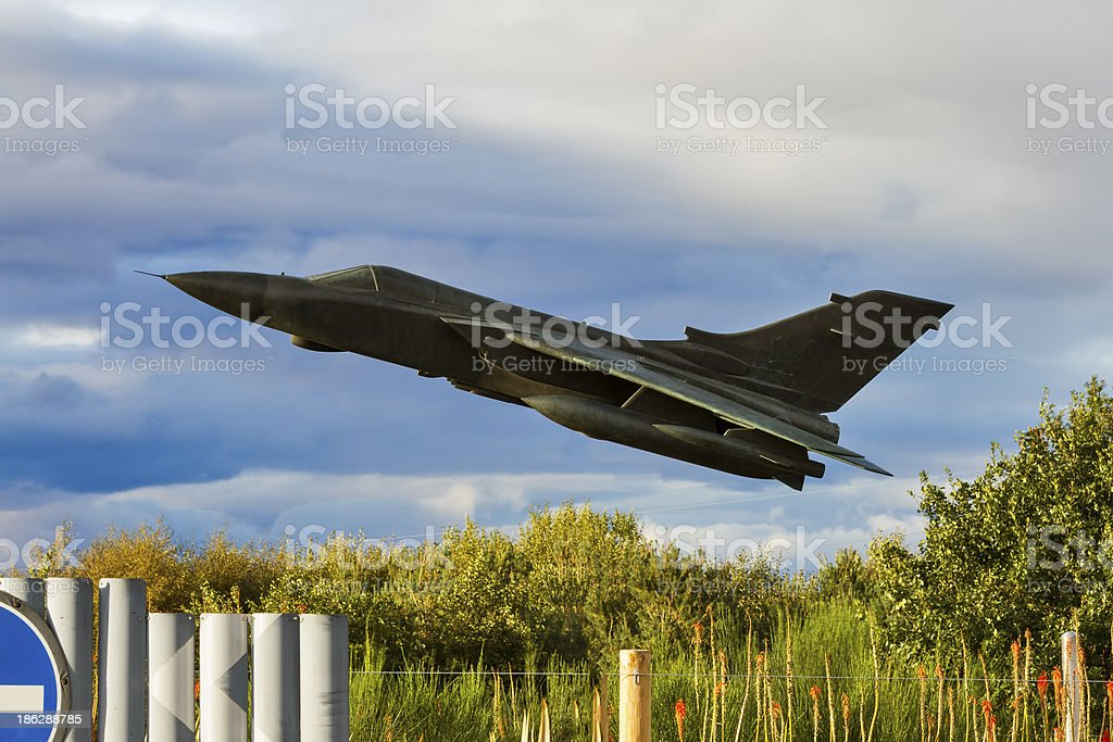 LOW FLYING stock photo