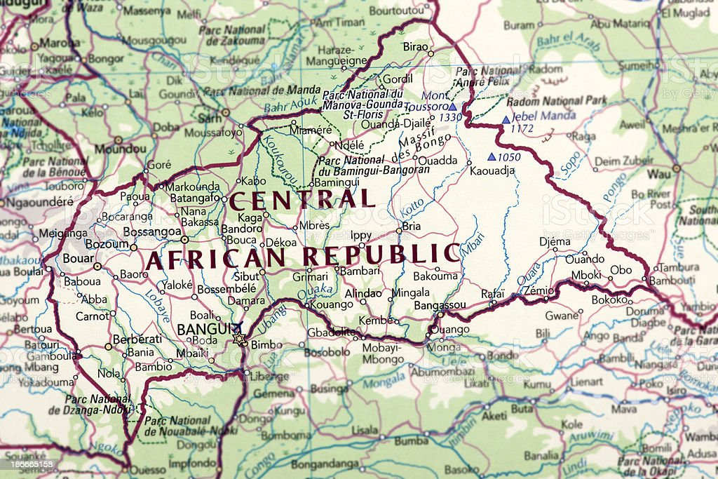 CENTRAL AFRICAN REPUBLIC royalty-free stock photo