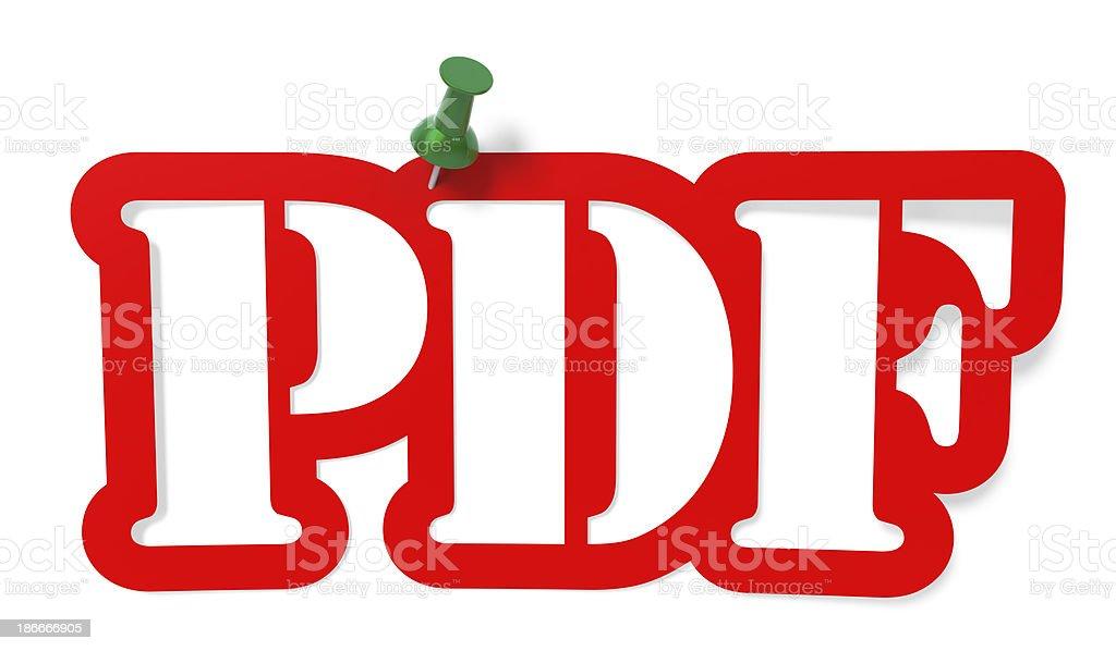 PDF royalty-free stock photo
