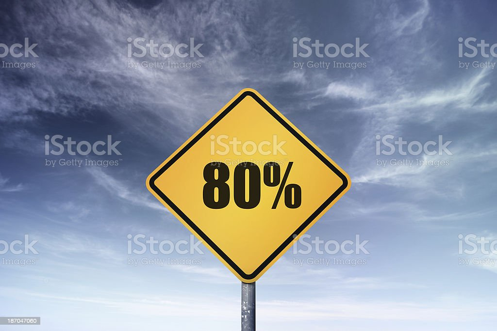 80% royalty-free stock photo