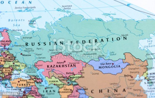 Map of Russian Federation.