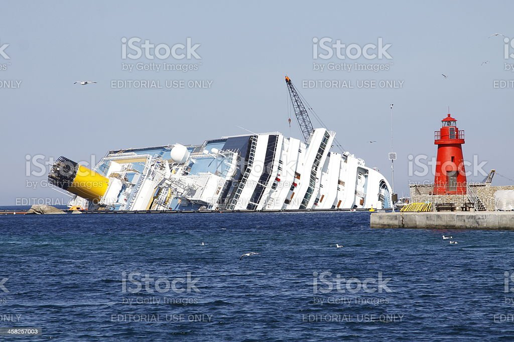 ITALY-SHIPPING-TOURISM-DISASTER royalty-free stock photo