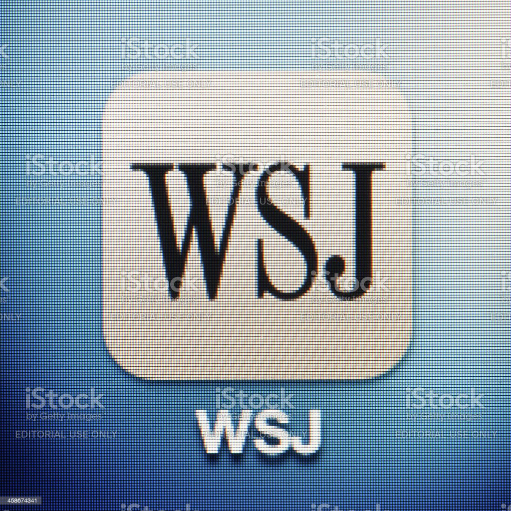 WSJ royalty-free stock photo