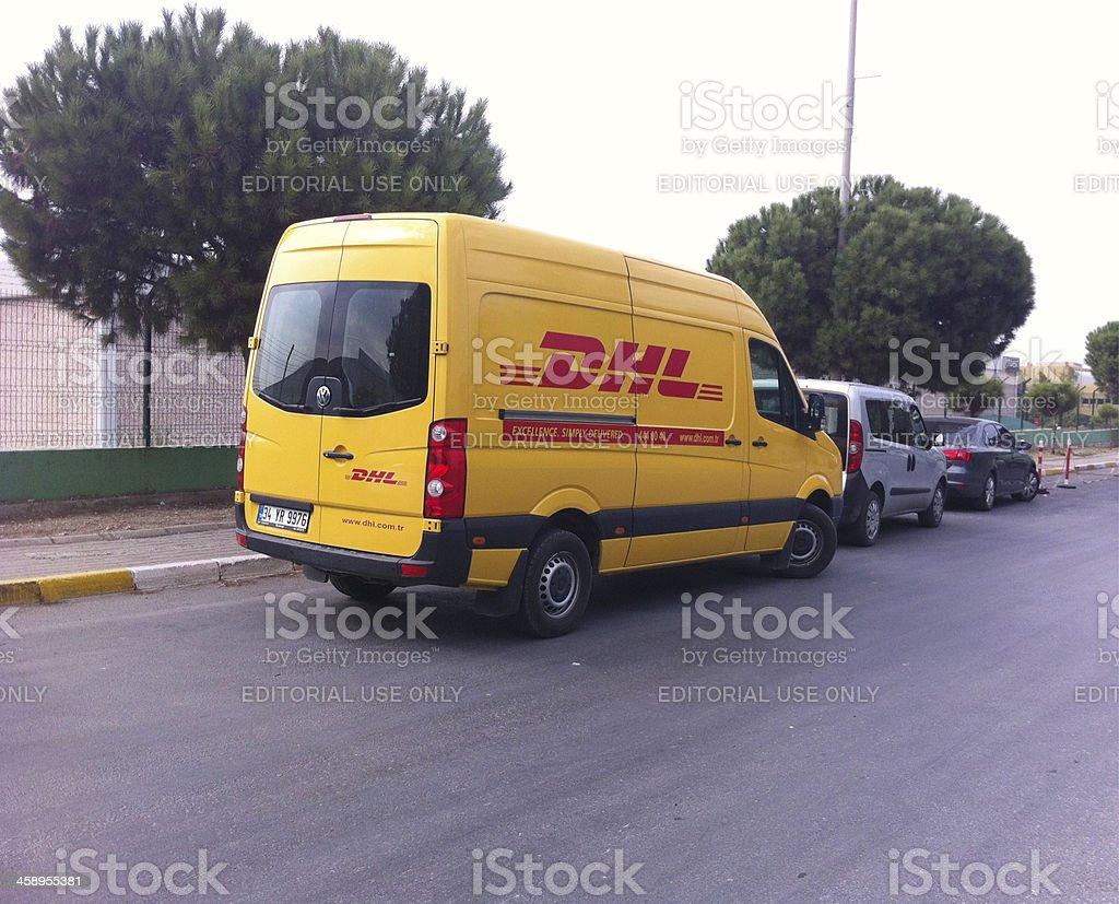 DHL royalty-free stock photo