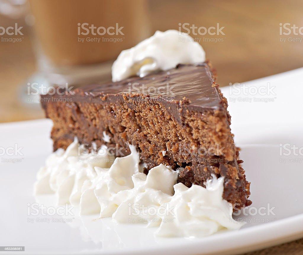 CHOCOLATE CAKE 'SACHER' stock photo