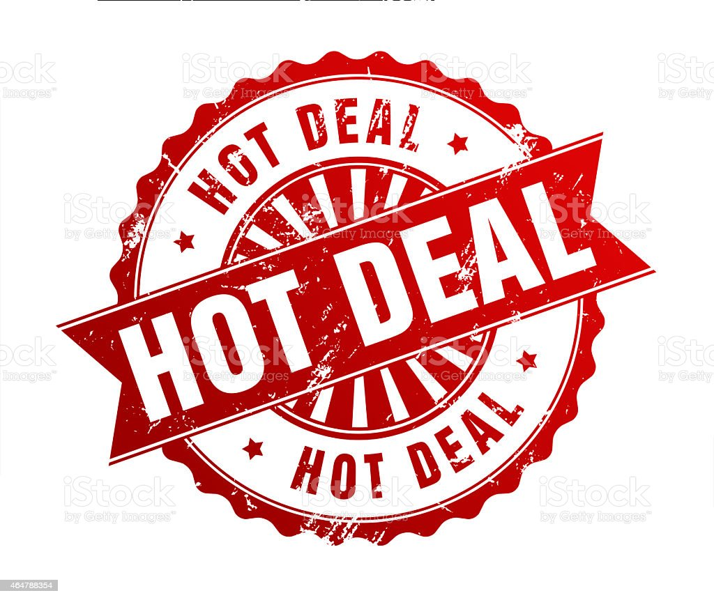 HOT DEAL stock photo