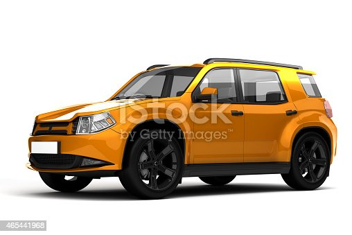 3D rendering of car on white background.