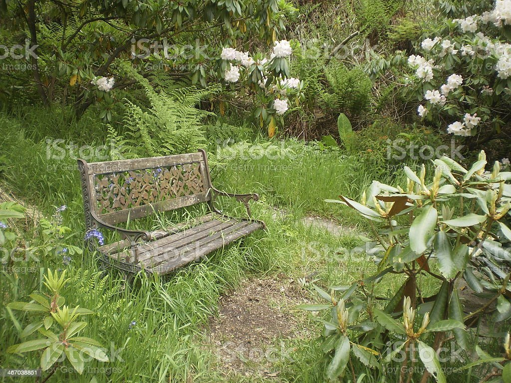 Miraculous Rusted Iron Bench Secret Garden Stock Photo Download Image Andrewgaddart Wooden Chair Designs For Living Room Andrewgaddartcom
