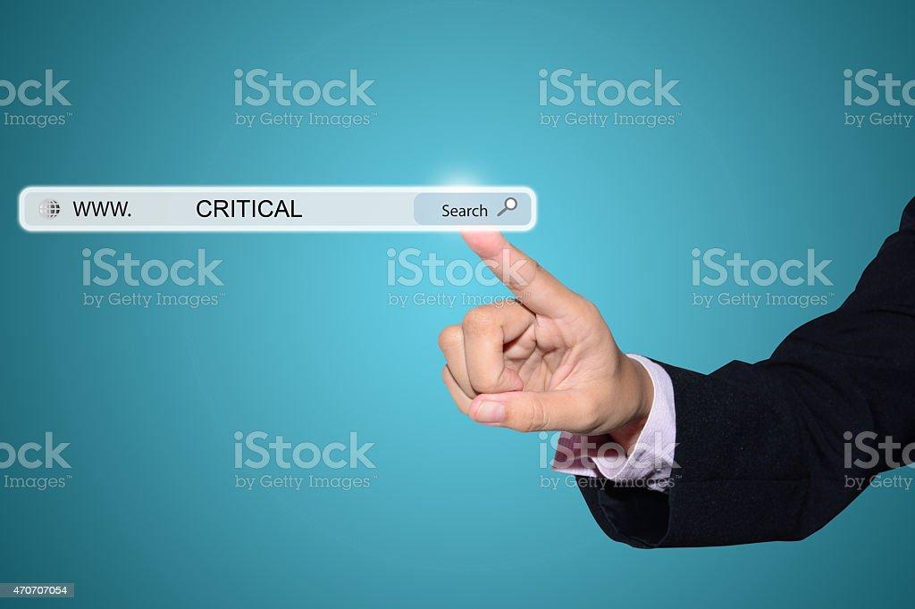 CRITICAL stock photo