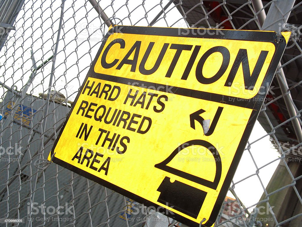 HARD HATS REQUIRED royalty-free stock photo