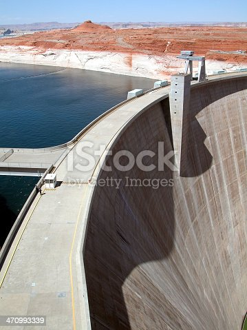 Glen Canyon Dam on the Colorado River.<br><br>