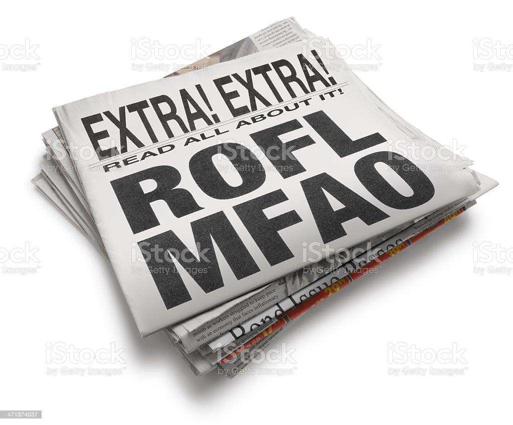 ROFLMFAO royalty-free stock photo