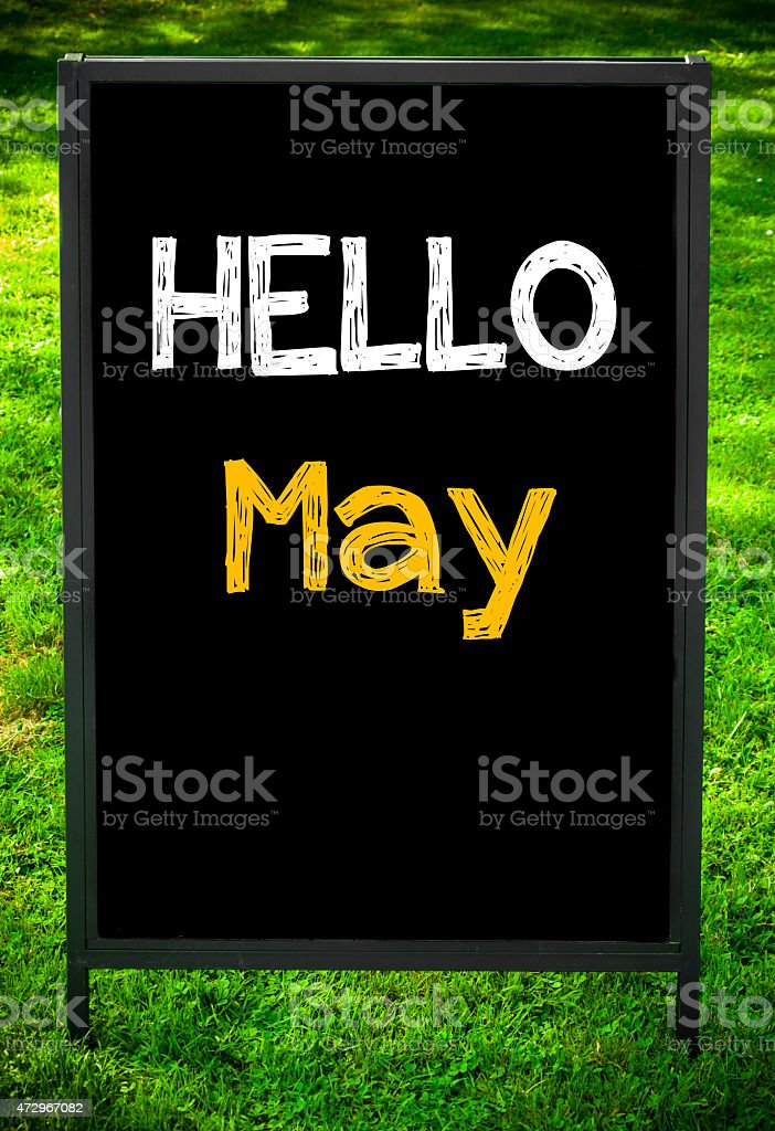 HELLO MAY stock photo