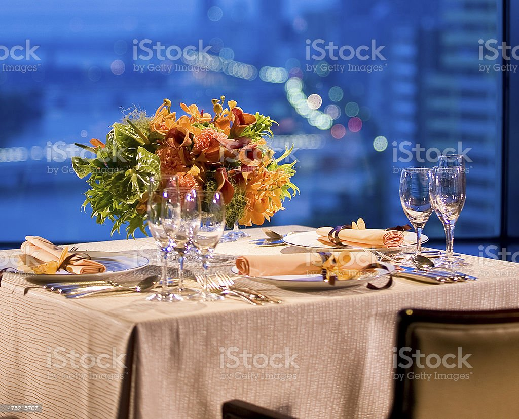 テーブルセッティング royalty-free stock photo