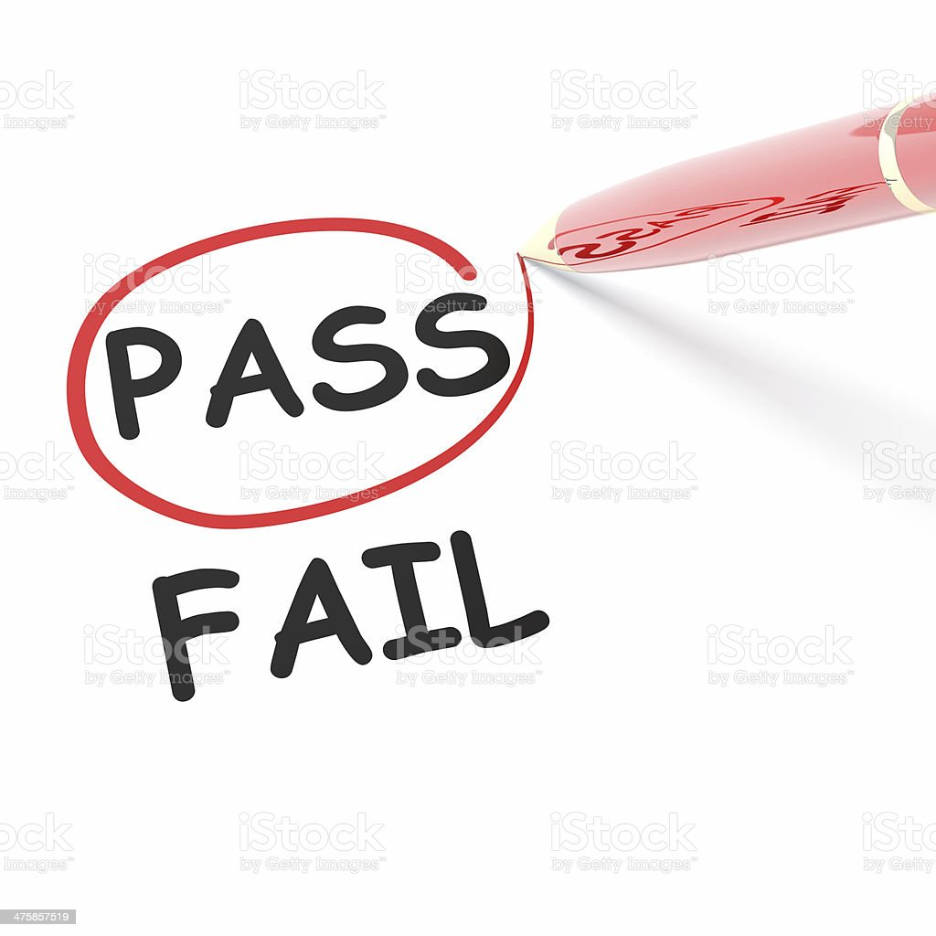 PASS FAIL stock photo