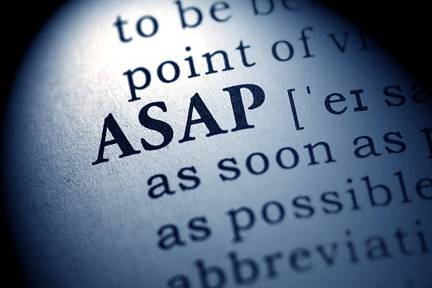 ASAP Fake Dictionary, Dictionary definition of the word ASAP. As soon as possible ASAP stock pictures, royalty-free photos & images