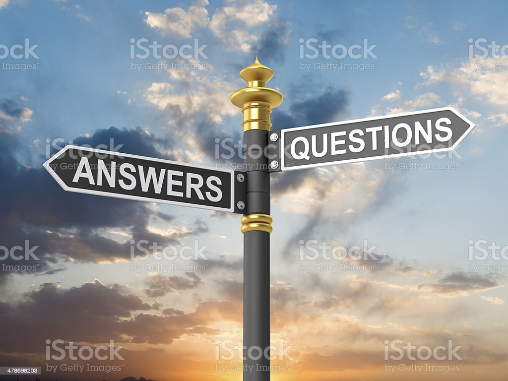 ANSWERS QUESTIONS royalty-free stock photo