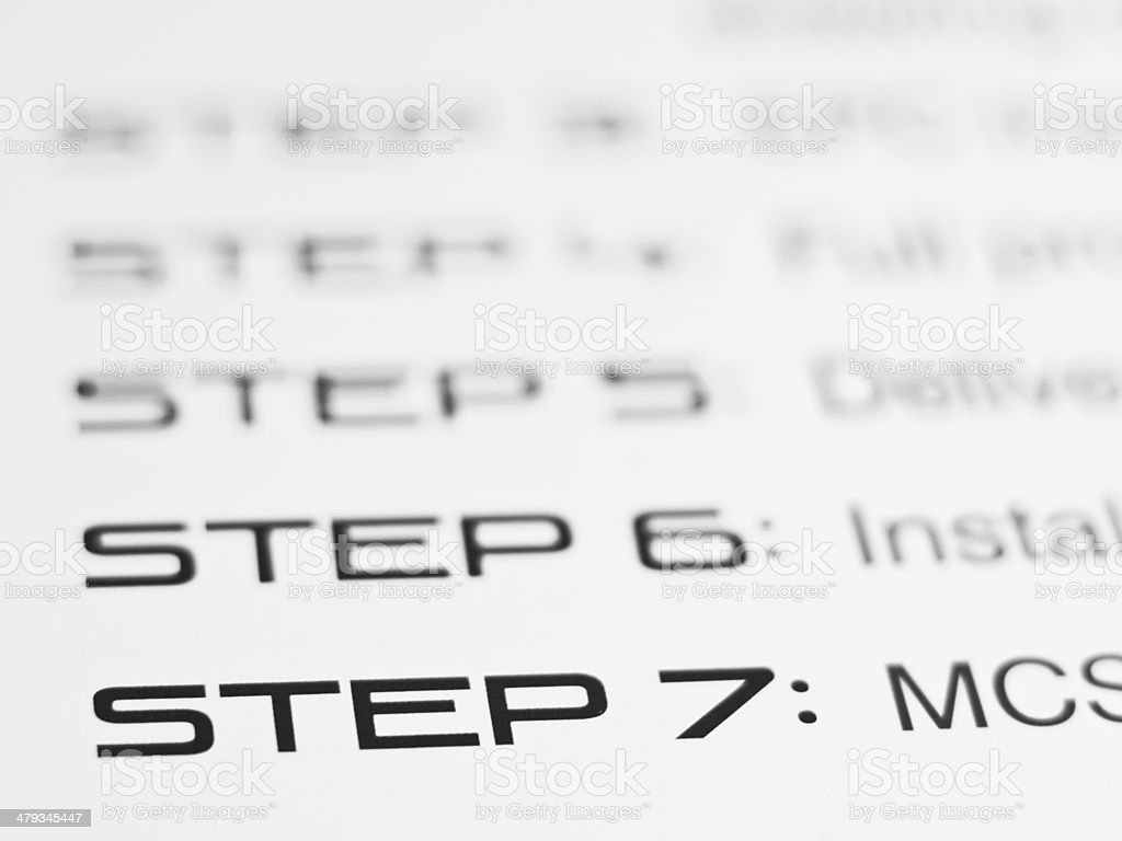 STEP 7 stock photo