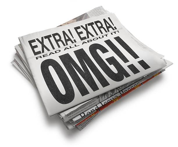 OMG!! A newspaper with headline