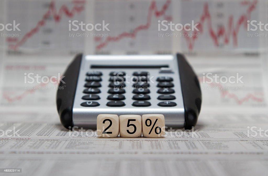 25% stock photo