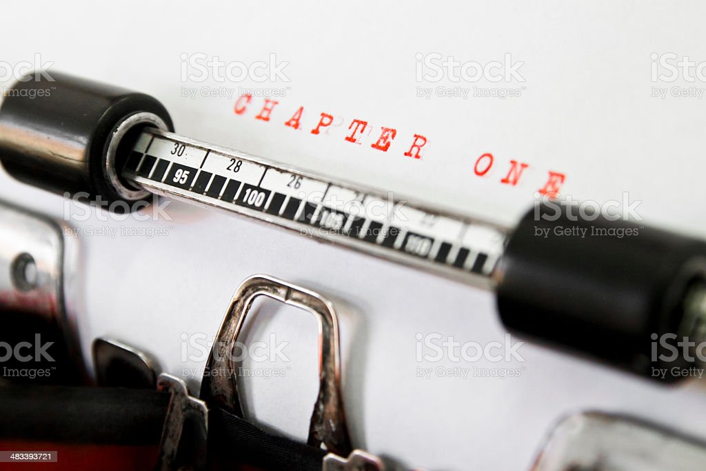 CHAPTER ONE royalty-free stock photo