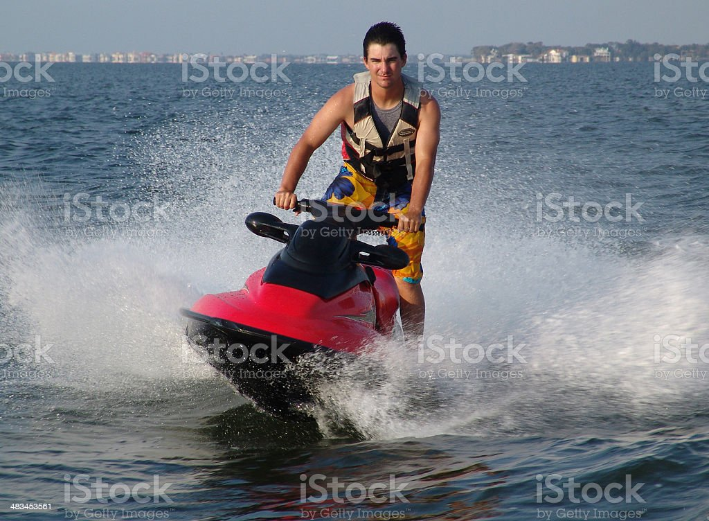 WATER SPORTS JET SKI stock photo