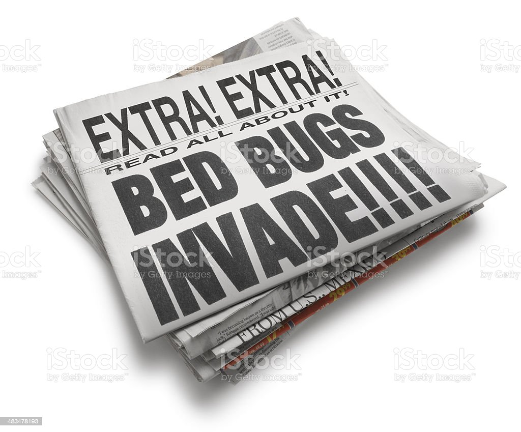 BED BUGS INVADE royalty-free stock photo
