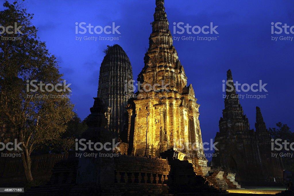 THAILAND AYUTTHAYA WAT CHAI WATTANARAM royalty-free stock photo