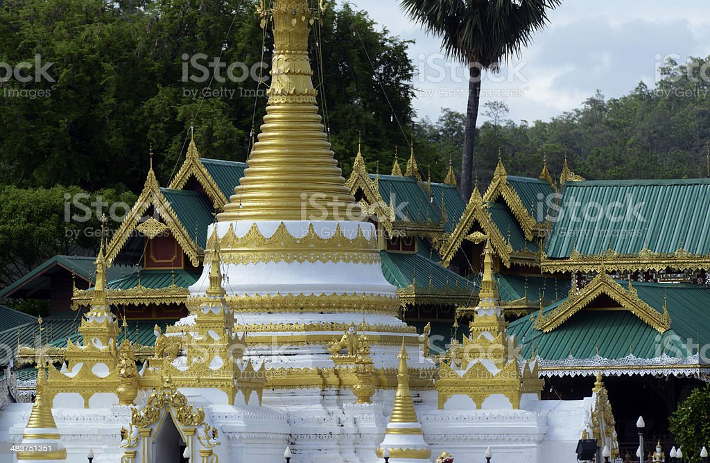 THAILAND MAE HONG SON TEMPLE royalty-free stock photo