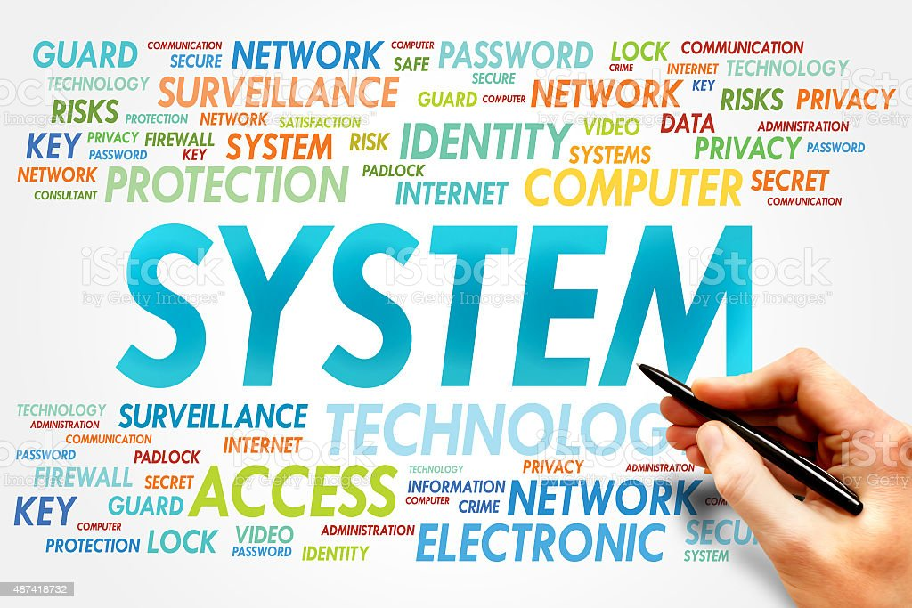 SYSTEM stock photo