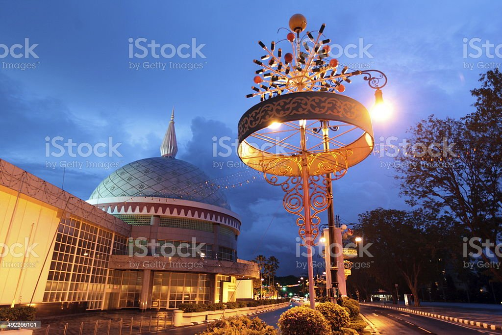 BRUNEI DARUSSALAM MUSEUM stock photo