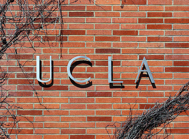 UCLA Los Angeles, CA, USA – March 17, 2014: An entrance to the University of California, Los Angeles located in the Westwood neighborhood of Los Angeles. The University of California, Los Angeles is a public research university founded in 1919. westwood neighborhood los angeles stock pictures, royalty-free photos & images