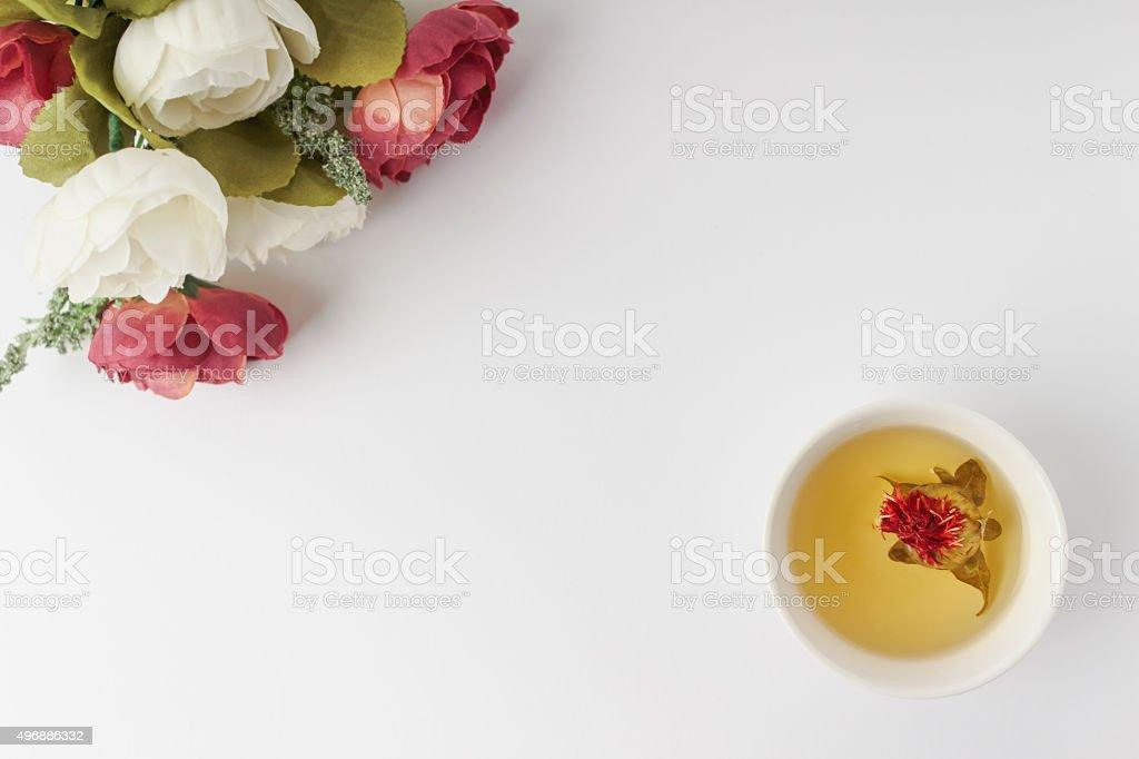 꽃과 차 stock photo