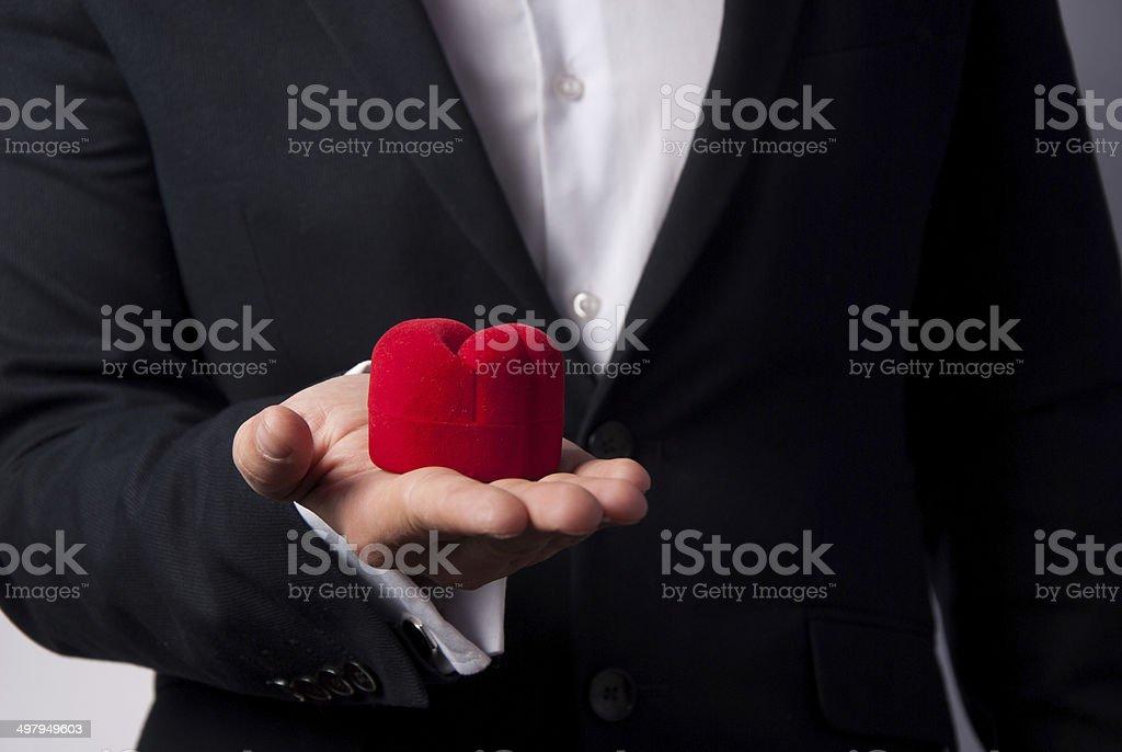 предложение руки и сердца royalty-free stock photo