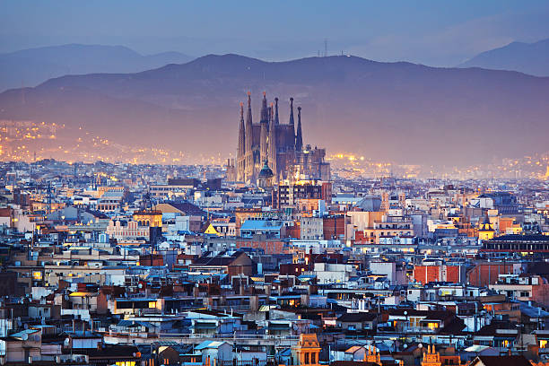 BARCELONA BARCELONA at night barcelona spain stock pictures, royalty-free photos & images