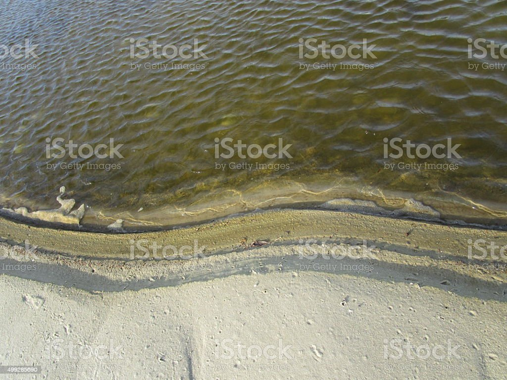 TERRACED SAND ON SHORE stock photo