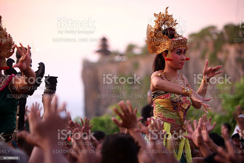 BALI ULU WATU DANCE stock photo