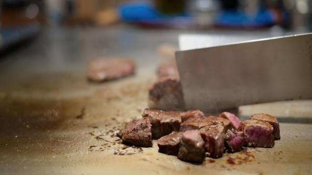 bbq - teppan yaki grill stock-fotos und bilder