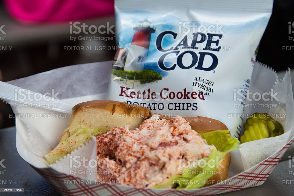 LOBSTER ROLL, CAPE COD. stock photo