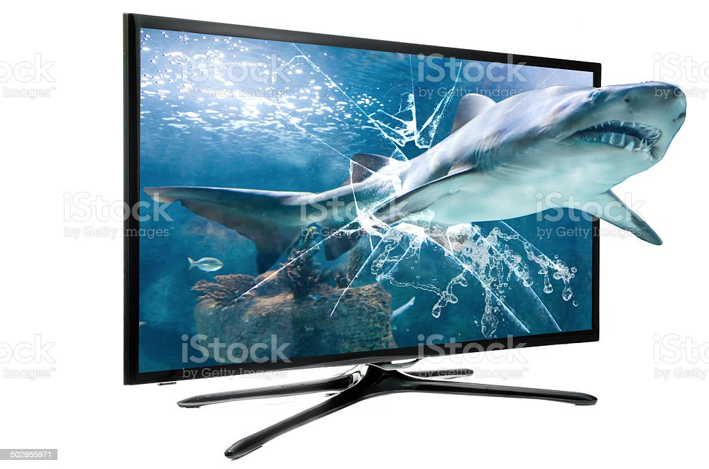 3D LED SMART TV stock photo