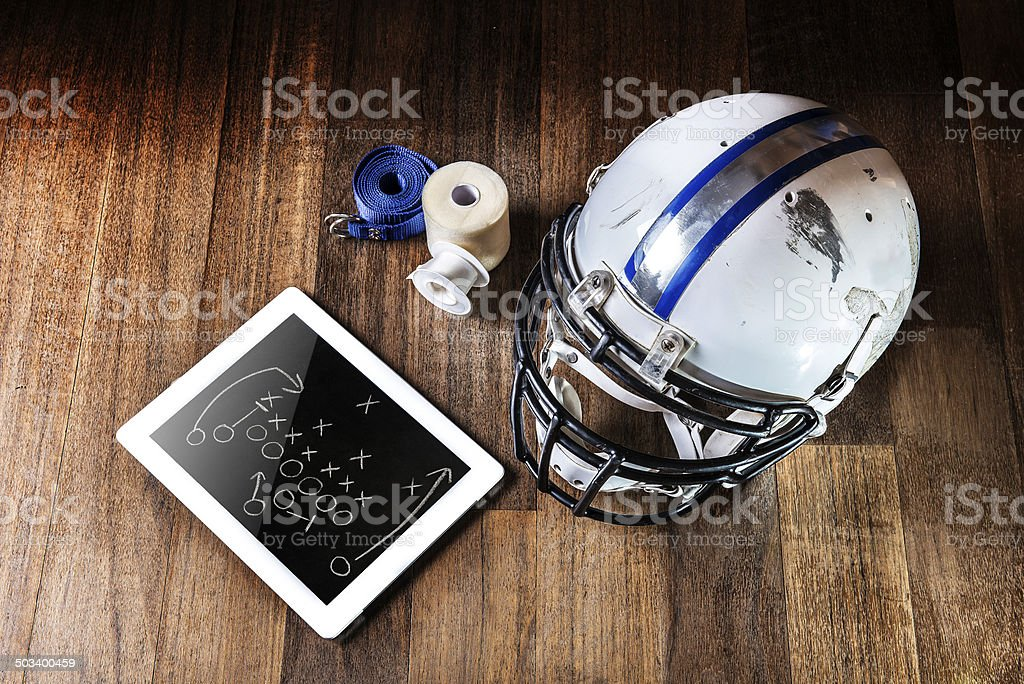 AMERICAN FOOTBALL PLAY BOOK stock photo