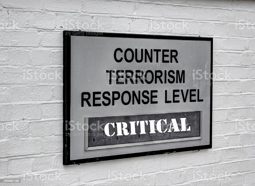 TERROR THREAT. stock photo