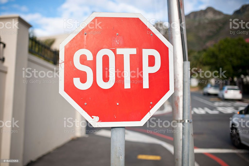 SOTP! stock photo