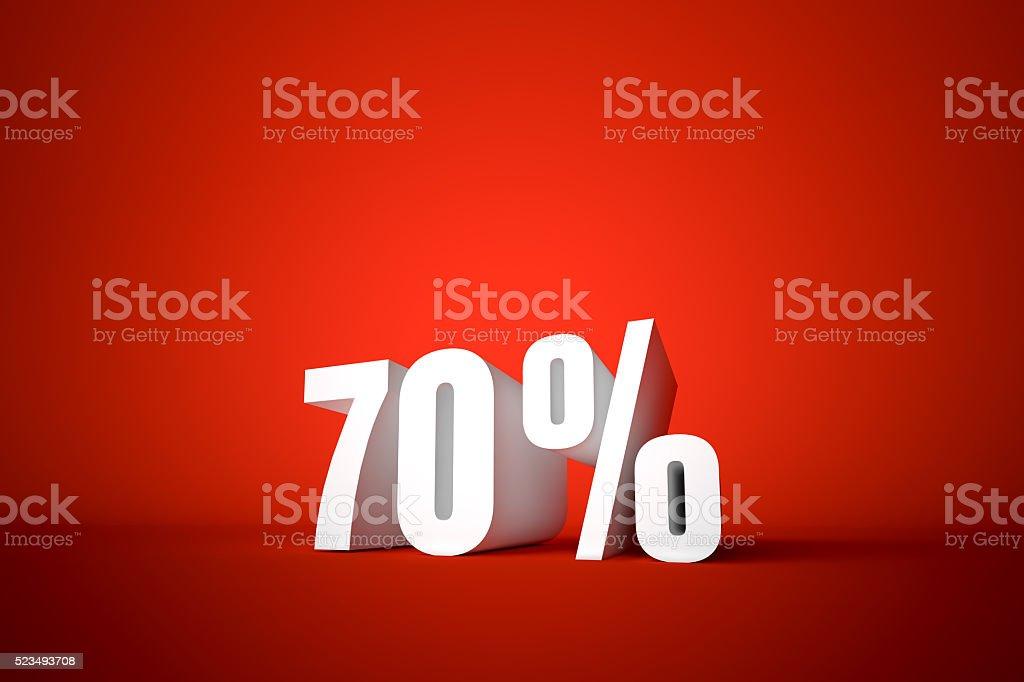 70% stock photo